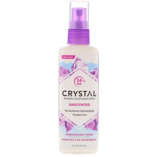 Crystal Body Deodorant, Mineral Deodorant Spray, Unscented, 4 fl oz (118 ml)