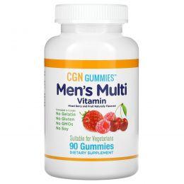 California Gold Nutrition, Мультивитамины для мужчин в форме жевательных таблеток, без желатина, без глютена, со вкусом органических ягод и фруктов, 90 жевательных таблеток