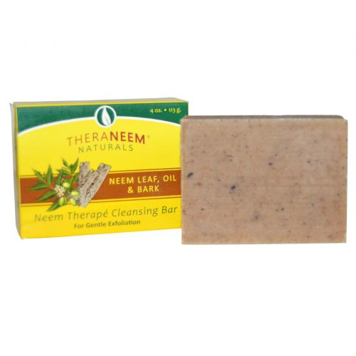 Organix South, TheraNeem Organix, Neem Therapé Cleansing Bar, Neem Leaf, Oil & Bark, 4 oz (113 g)