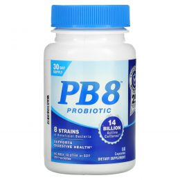 Nutrition Now, PB8, оригинальный состав, 60 пробиотических капсул