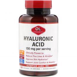 Olympian Labs Inc., Гиалуроновая кислота, 150 мг, 100 растительных капсул