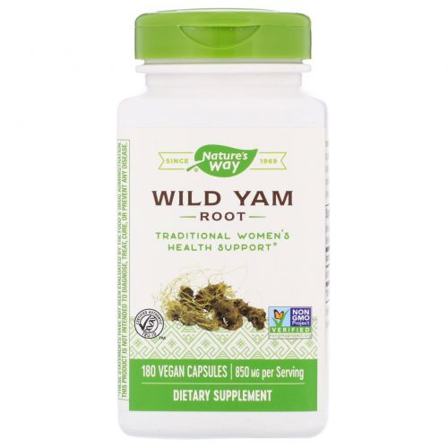 Nature's Way, Корень дикого ямса, 425 мг, 180 вегетарианских капсул