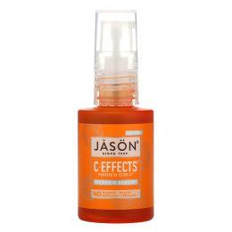 Jason Natural, C-Effects, Сыворотка с повышенной концентрацией витамина C, Средство против возрастных пятен для ежедневного применения, 1 жидкая унция (30 мл)