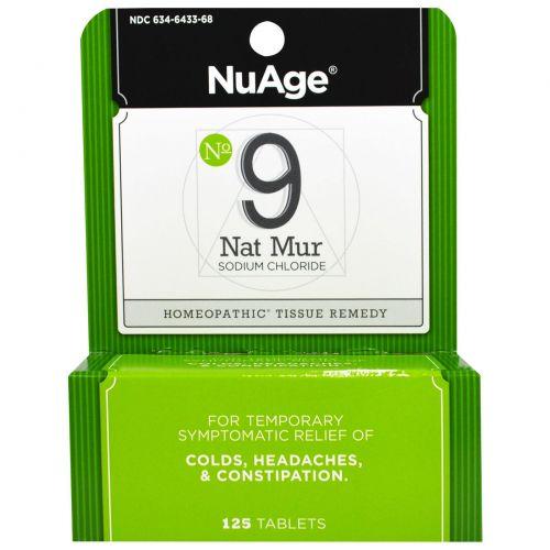 Hyland's, NuAge, № 9 Nat Mur (хлорид натрия), 125 таблеток