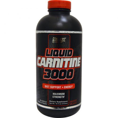 Nutrex Research Labs, Liquid Carnitine 3000, Ягодный взрыв, 473 мл