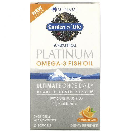 Minami Nutrition, MorEPA Platinum, Формула для ежедневного приема с Омега-3 и витамином D3, со вкусом апельсина, 30 гелевых капсул
