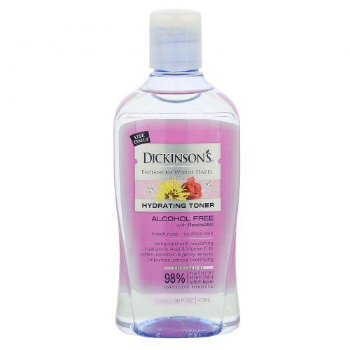 Dickinson Brands, Увлажняющий тоник, гамамелис, без алкоголя, 16 жидких унций (473 мл)