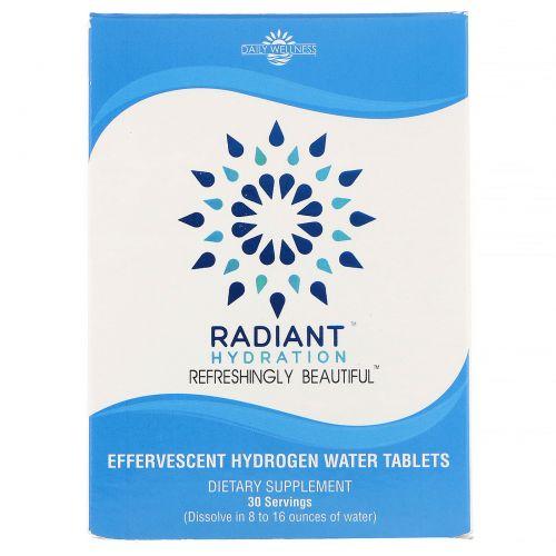 Daily Wellness Company, Radiant, добавка для приготовления водородной воды, 30шипучих таблеток