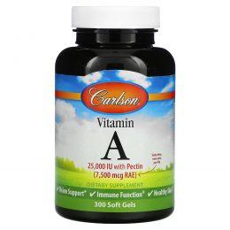 Carlson Labs, Витамин А, 25000 МЕ, 300 мягких капсул