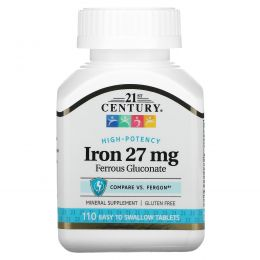 21st Century, Железо, 27 мг, 110 таблеток