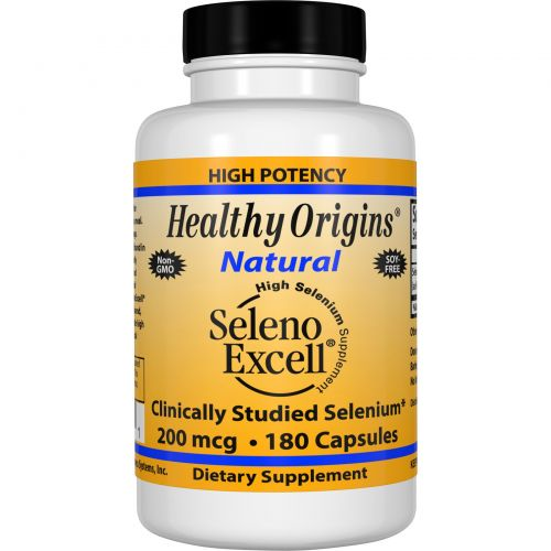 Healthy Origins, Seleno Excell, Добавка с высоким содержанием селена, 200 мкг, 180 капсул