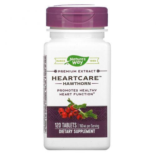 "Nature's Way, ""Забота о сердце"", экстракт боярышника, 120 таблеток"