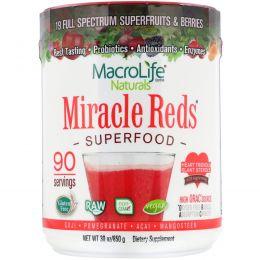 Macrolife Naturals, Miracle Reds, суперпродукт, годжи- гранат-асаи- мангостин, 30 унций (850 г)