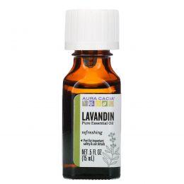 Aura Cacia, 100% чистое эфирное масло, лавандин, 0,5 жидких унций (15 мл)