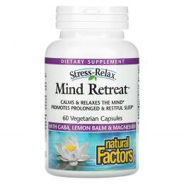 Natural Factors, Стресс-релакс, освобождение ума, 60 капсул