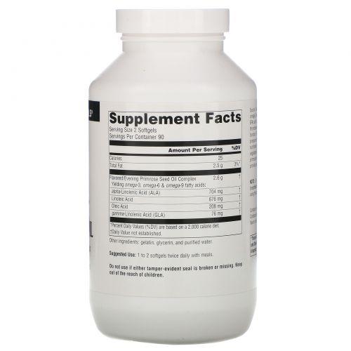 Source Naturals, Масло льна и примулы, 1300 мг, 180 мягких капсул