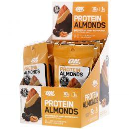 Optimum Nutrition, Протеиновый миндаль, арахисовое масло с темным шоколадом, 12 пакетиков по 1,5 унц. (43 г)