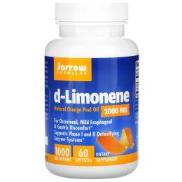 Jarrow Formulas, d-лимонен, 1000 мг, 60 мягких таблеток