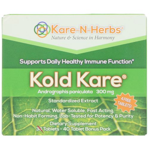 Kare n Herbs, Пищевая добавка «Забота при простуде», 40 таблеток