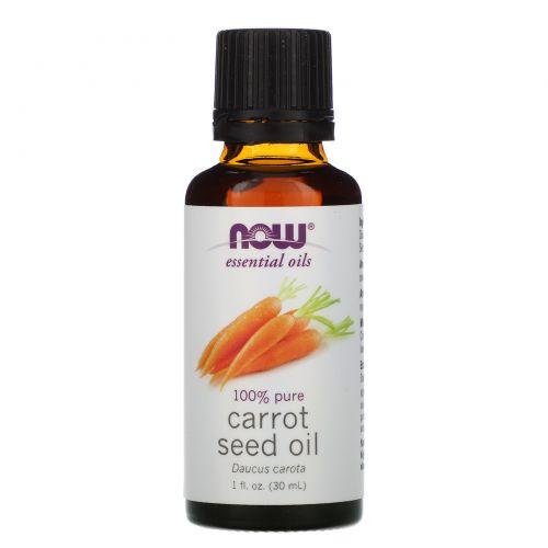 Now Foods, Эфирные масла, масло семян моркови, 30 мл (1 жидк. унц.)