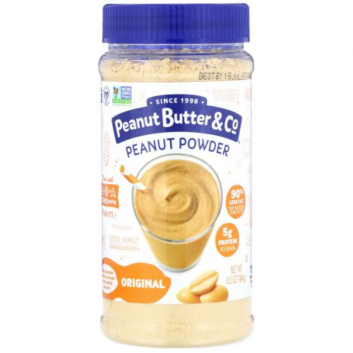 Peanut Butter & Co., Mighty Nut, Сухое арахисовое масло, Оригинальное, 6,5 унций (184 г)