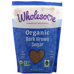 Wholesome Sweeteners, Inc., Органический темно-коричневый сахар, 24 унции (681 г)