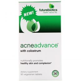 FutureBiotics, Acne Advance with Colostrum, 90 Vegetarain Tablets