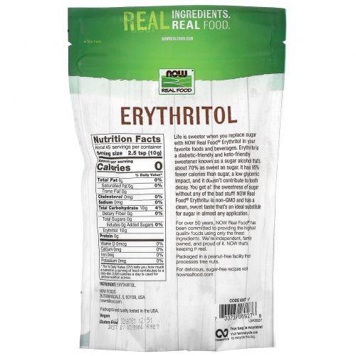 Now Foods, Настоящая пища, эритритол, 1 фунт (454 г)