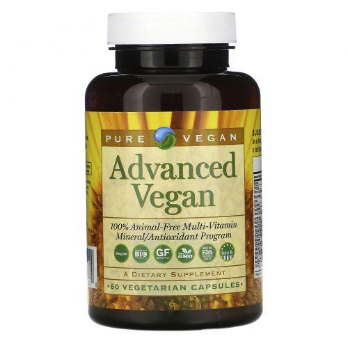 Pure Vegan, Advanced Vegan, 60 вегетарианских капсул