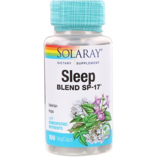 Solaray, Sleep Blend SP-17, Valerian-Hops, 100 Veggie Caps