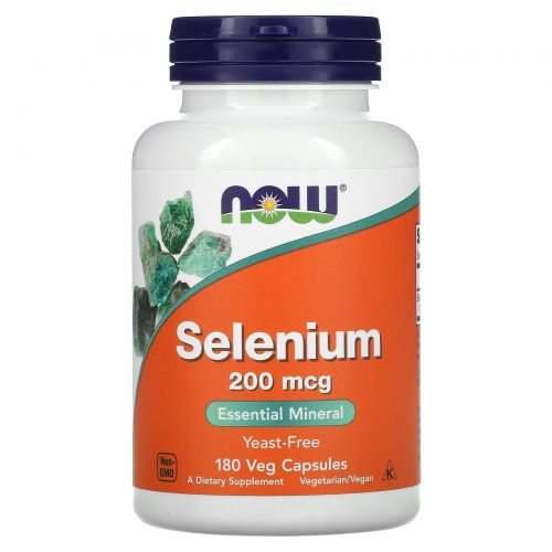 Now Foods, Selenium, 200 mcg, 180 Veggie Caps
