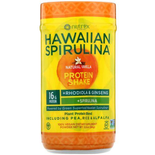 Nutrex Hawaii, Hawaiian Spirulina, протеиновый коктейль, натуральная ваниль, 364г (12,8унции)