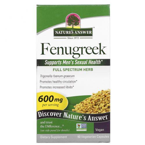 Nature's Answer, Пажитник, семена, 90 капсул в растительной оболочке