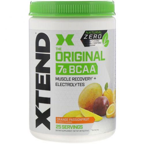 Scivation, Xtend, The Original 7G BCAA, Natural Zero, Orange Passionfruit, 13 oz (367.5 g)