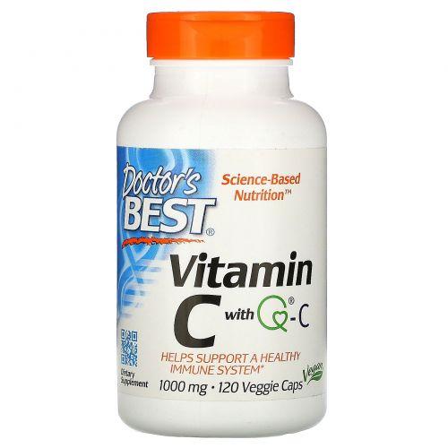 Doctor's Best, Витамин C, 1000 мг, 120 растительных капсул
