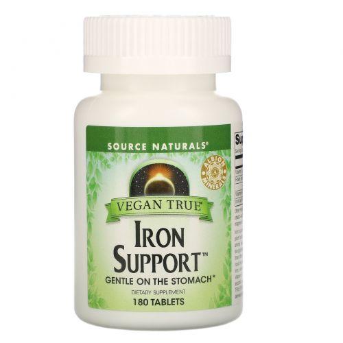 Source Naturals, Истинно Веган, Железная поддержка, 180 таблеток