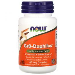 Now Foods, Gr8-Дофилус, 60 вегетарианских капсул