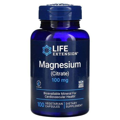 Life Extension, Магний (цитрат), 160 мг, 100 вегетарианских капсул