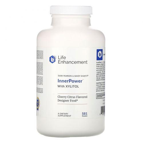 Life Enhancement, «От Дюрка Пеарсона и Сэнди Шо», напиток с ксилитом «ВнутренняяСила» со вкусом вишни, 1 фунт 2 унции (513 г)