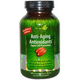 Irwin Naturals, Антивозрастные антиоксиданты , 60 гелевых капсул с жидким наполнителем