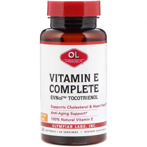 Olympian Labs Inc., Токомин комплекс токотриенола и витамина Е, 60 мягких капсул