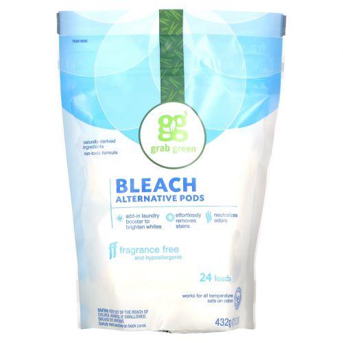 Grab Green, Отбеливающие альтернативные бобы, без ароматизаторов, 24 упаковки, 15,2 унций (432 г)