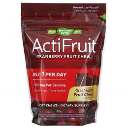 Enzymatic Therapy, ActiFruit, Пищевая добавка на основе клюквы, 20 жевательных конфет