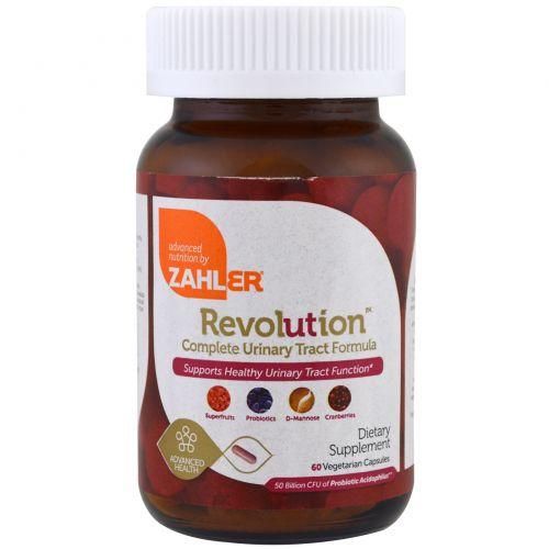 Zahler, Revolution, полноценная формула для системы мочевыведения, 60 вегетарианских капсул