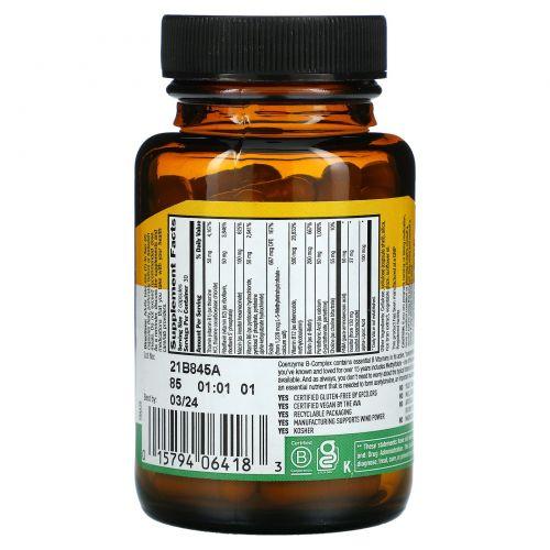 Country Life, Ферментный комплекс витаминов B в капсулах, 60 вегетарианских капсул