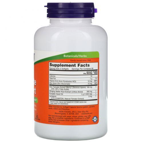 Now Foods, Prostate Support (поддержка предстательной железы), 180 желатиновых капсул