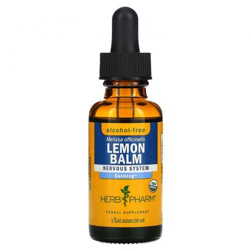 Herb Pharm, Лимонный бальзам, без спирта, 1 ж. унц. (30 мл)