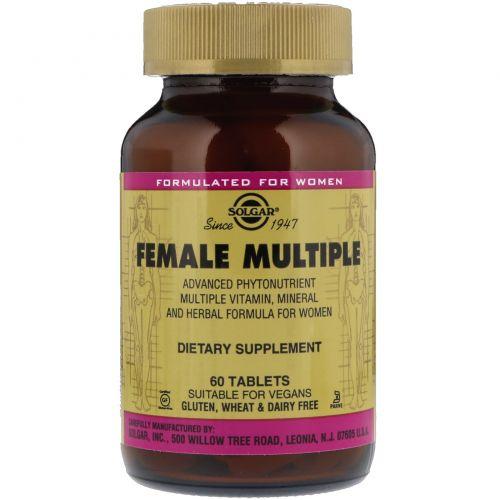 Solgar, Female Multiple, 60 таблеток