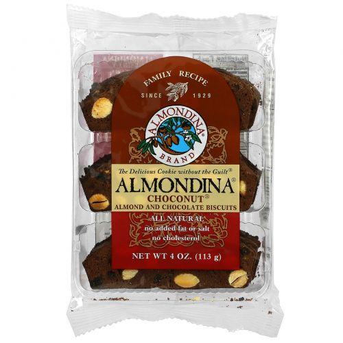 Almondina, Чоконат(шоколадный орех), миндальные и шоколадные печенья, 4 унции (113 г)