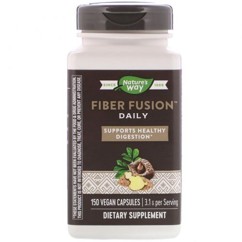 Enzymatic Therapy, Fiber Fusion Plus, 120 растительных капсул